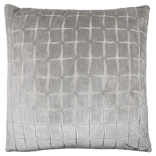 Luna 22x22 Pillow, Stone