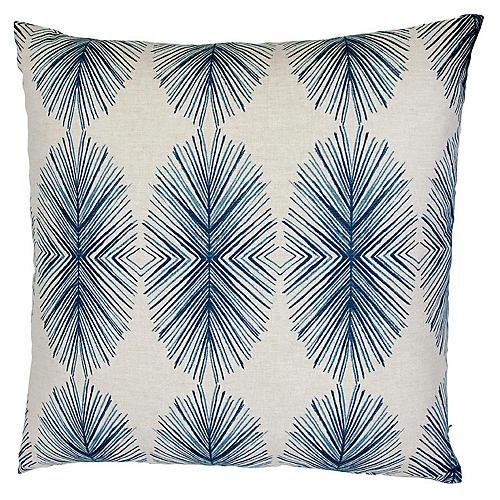Tulum 26x26 Euro Pillow, Blue/White