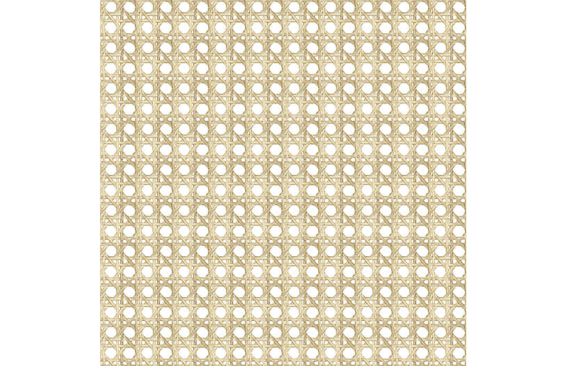Large Caning Wallpaper, Sesame