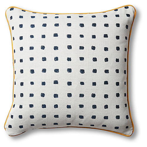 Kit Pillow, Navy Dot/Multi