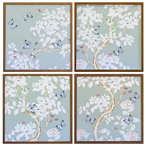 Dawn Wolfe, Pale Gray/Green Chinoiserie Set