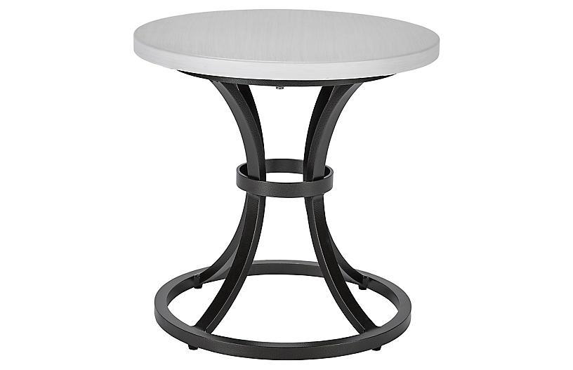 Calistoga Outdoor Small Side Table, Dark Bronze