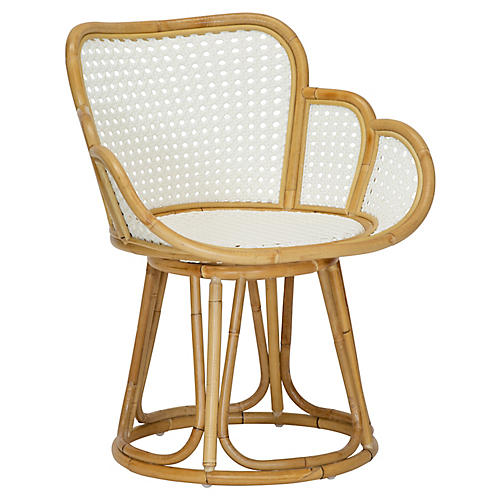 Tulip Accent Chair, Natural