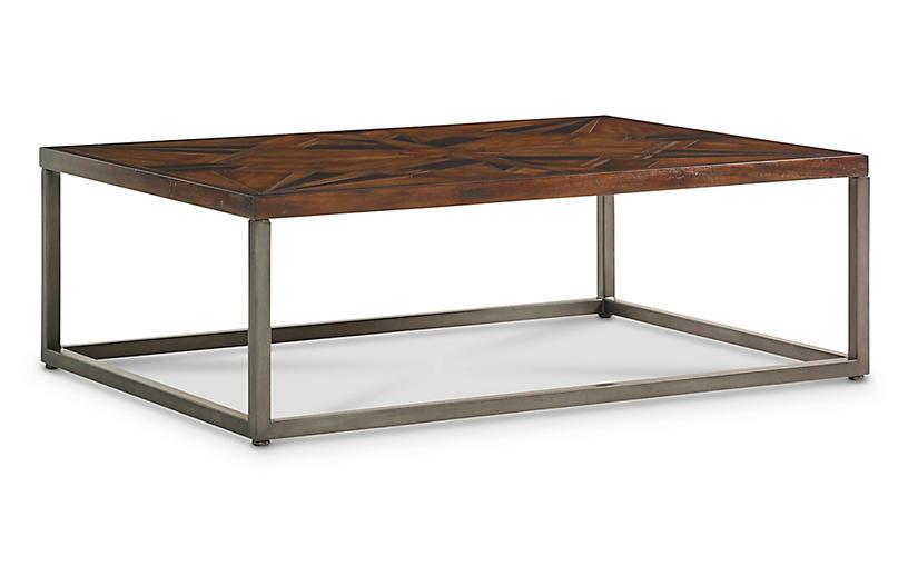 Compass Coffee Table, Dark Bronze