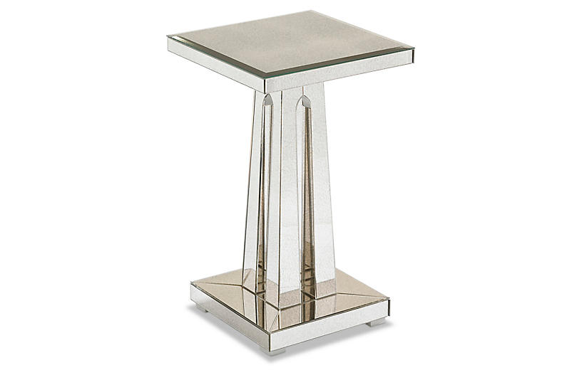 Narcissus Side Table, Antiqued Mirror