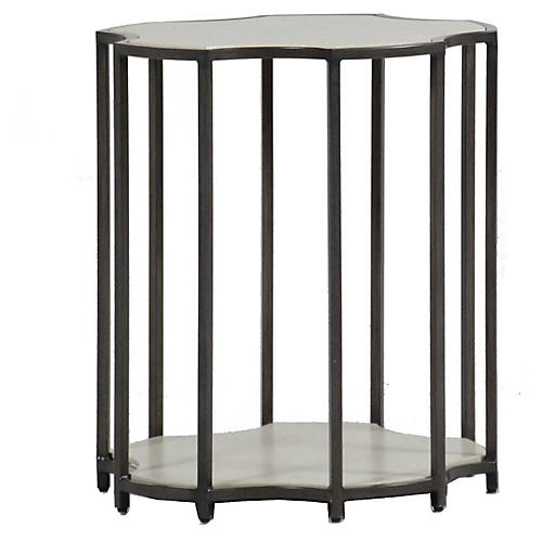 Clarice Outdoor Side Table, Slate Gray