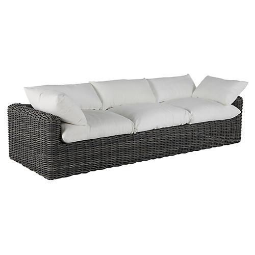 Montecito Outdoor Sofa, Slate Gray