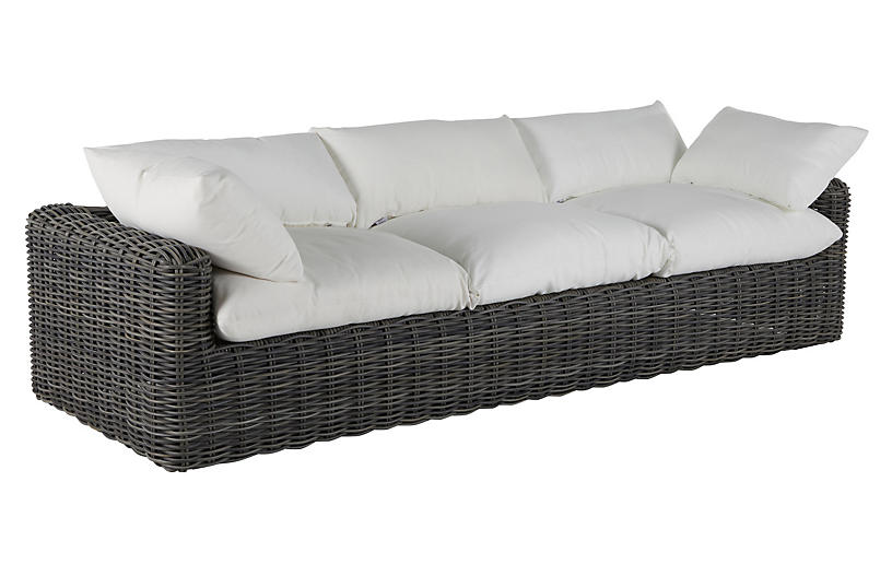 Montecito Outdoor Sofa, Slate Gray