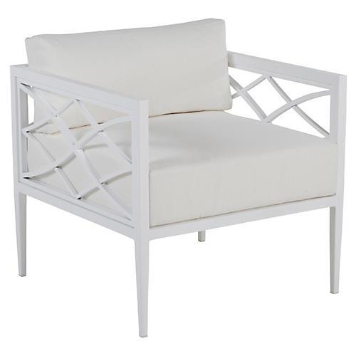 Elegante Outdoor Lounge Chair, Chalk White