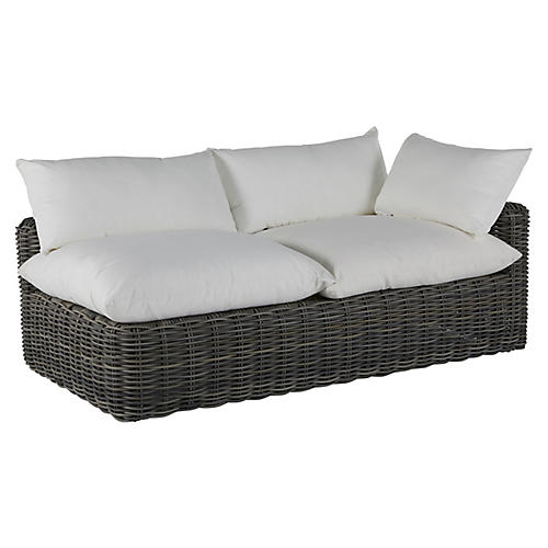Montecito Right-Arm Outdoor Chaise, Slate Gray