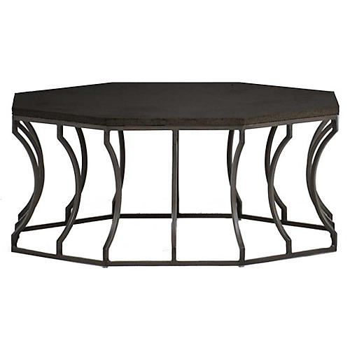 Audrey Outdoor Coffee Table, Slate Gray