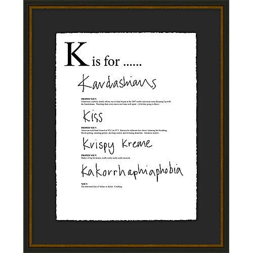 Jo Sampson, K is For