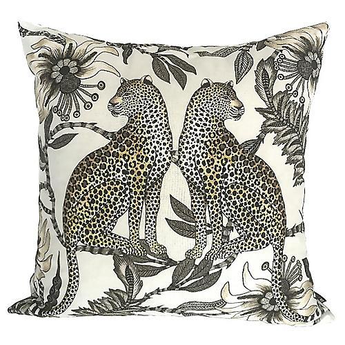 Leopard 20x20 Pillow, Cream/Multi