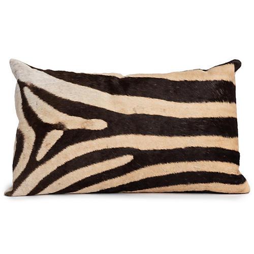 Zebra 14x22 Pillow, Cream/Multi Hide