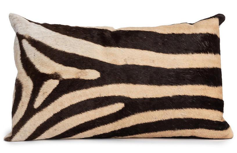 Zebra 22x14 Pillow, Cream / Multi