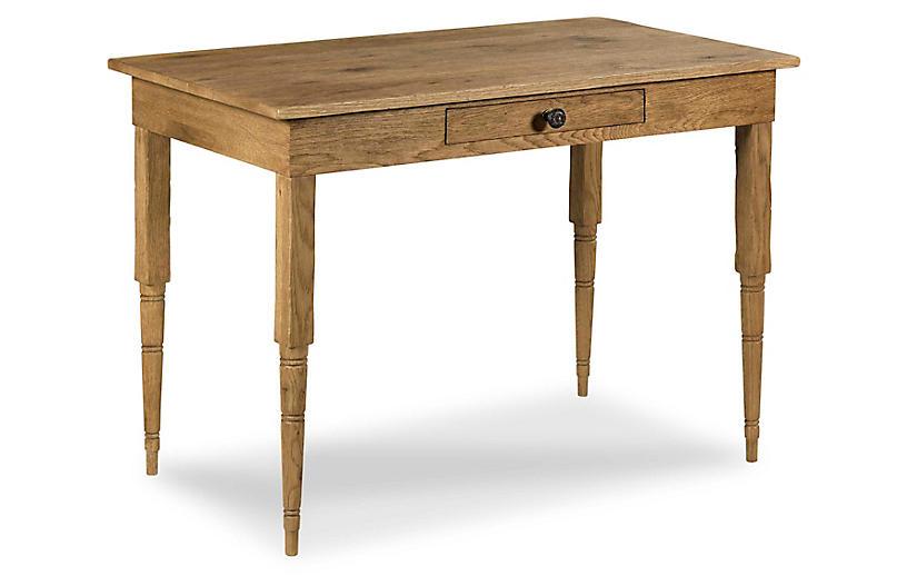 Pencil Oak Desk, Breadboard