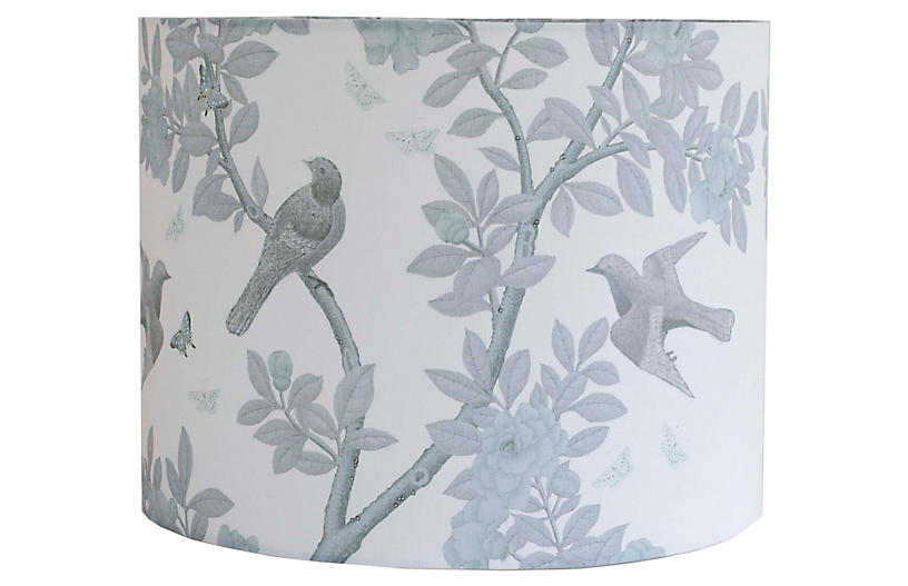Tree Lampshade, Gray Linen
