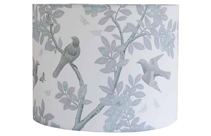 Tree Lampshade, Gray Linen