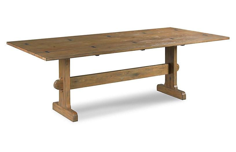 Metamorphosis Extension Dining Table, Antique Brown