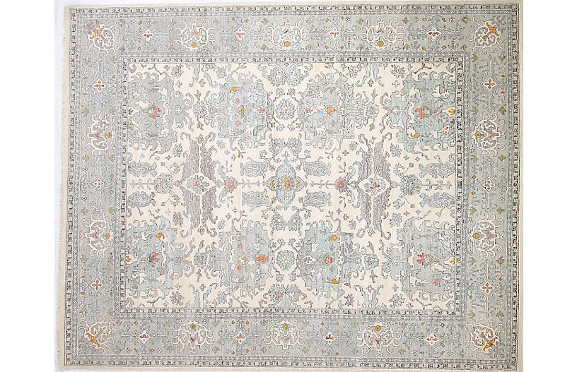 12'x15' Sari Michelle Rug, Ivory/Light Gray