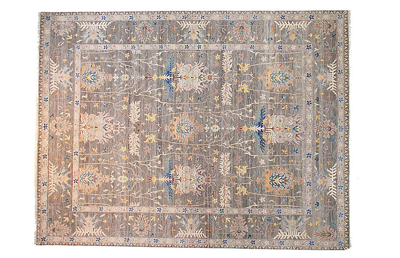 9'x12' Sari Oushak Mara Rug, Gray
