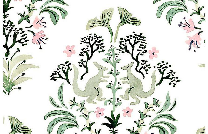 Vikki Chu Med. Dino 1 Wallpaper, White