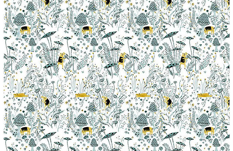 Vikki Chu Sm. Mushroom Pigs Wallpaper, Multi