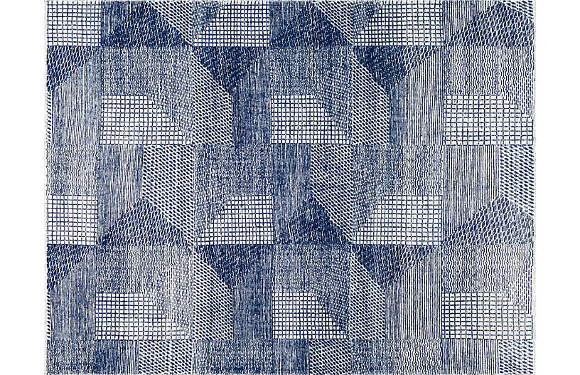 Weller Hand-Knotted Rug, Navy
