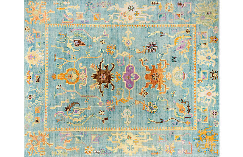Beatrix Hand-Knotted Rug, Seascape
