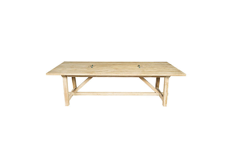 Harvest Teak Outdoor Table, Natural