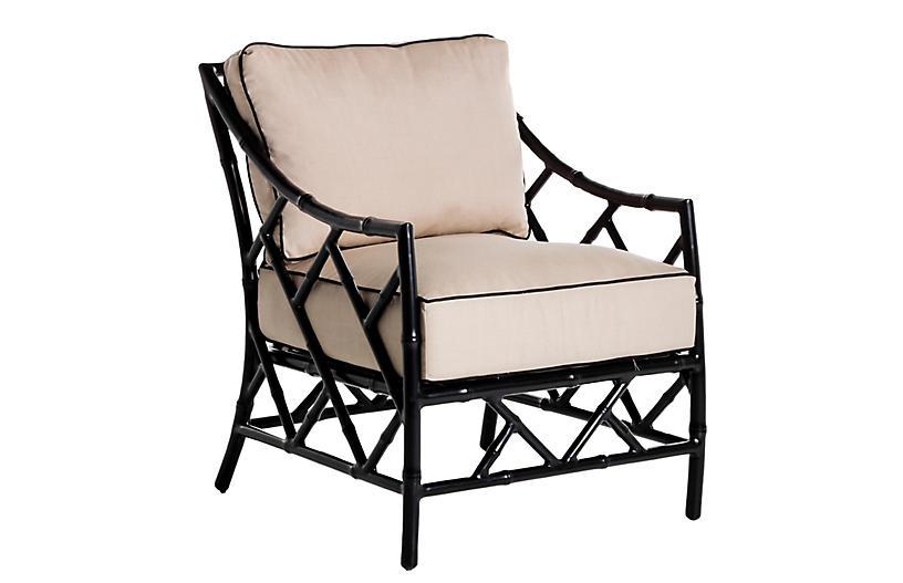 Kit Lounge Chair, Black/Arbor Pebble