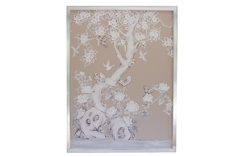 Ariel Okin x Dawn Wolfe, Nude Chinoiserie Tree
