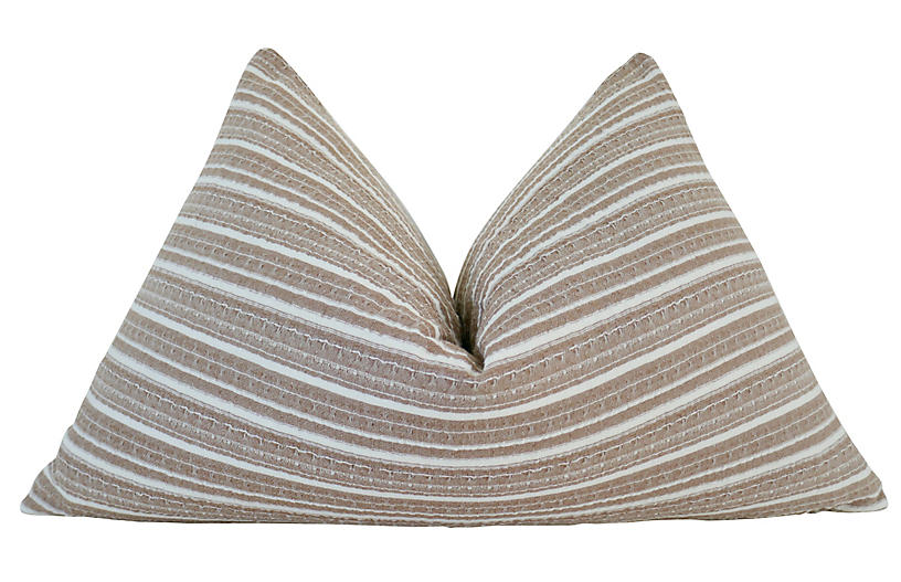 Desert 25x16 Pillow, Tan/White