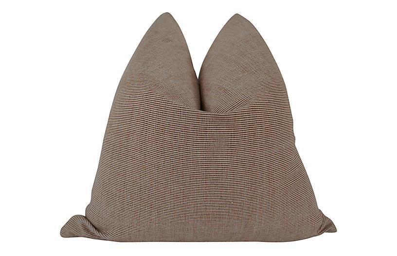 Lindero 24x24 Pillow, Clay/Natural