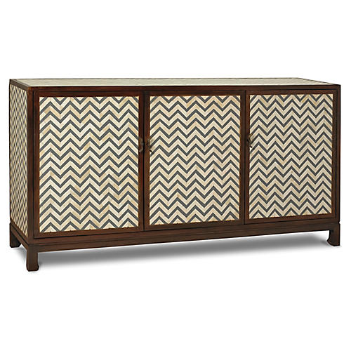 Tangier Sideboard, Gray/Ivory
