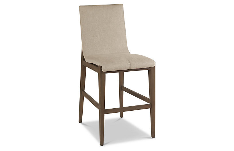 Cavallini Counter Stool, Pebble Linen