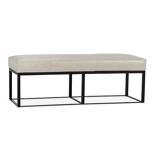 Hardin Bench, Oyster Leather