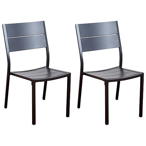 S/4 Koningsdam Side Chairs, Gray