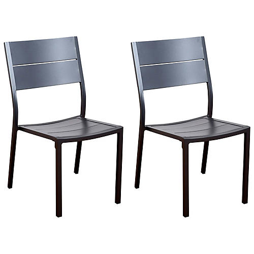 S/4 Koningsdam Side Chairs, Gray