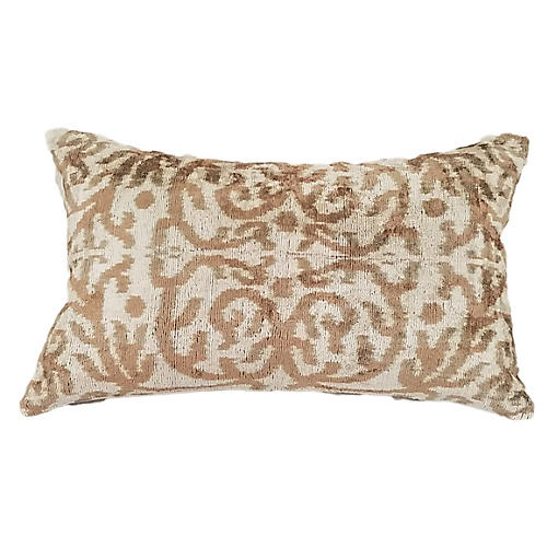 Licia 16x24 Lumbar Pillow, Taupe/Cream