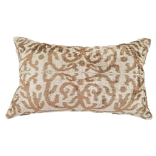 Licia 16x24 Lumbar Pillow, Taupe/Cream