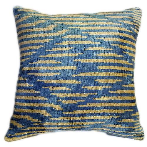 Sheila 16x16 Pillow, Sand/Azure