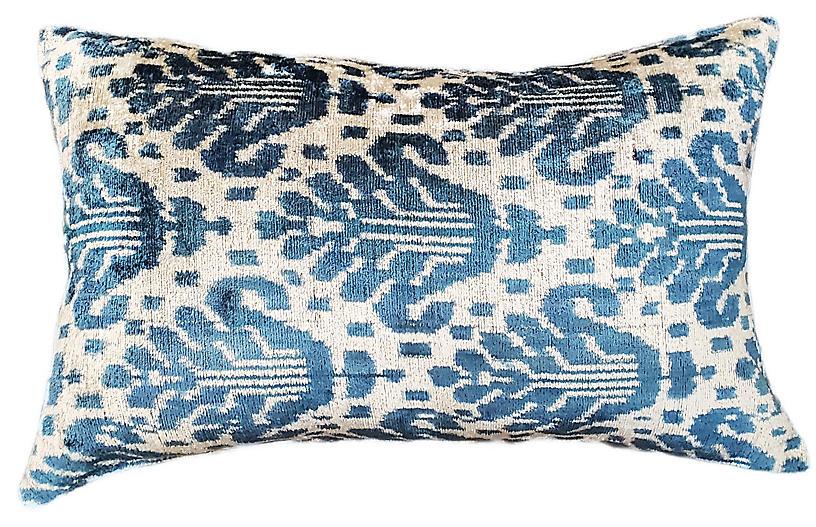 Allie Lumbar Pillow, Blue
