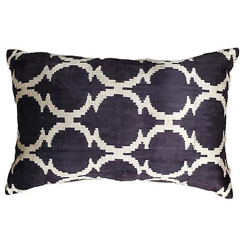 Lilia 16x24 Lumbar Pillow, Black