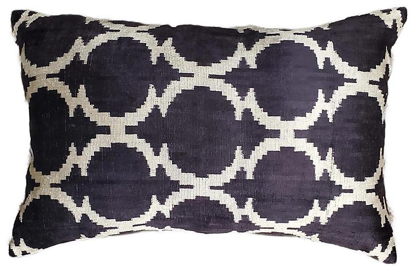 Lilia Lumbar Pillow, Black