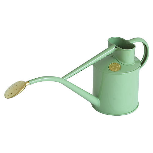 "14"" Zelos Indoor Watering Can, Sage"