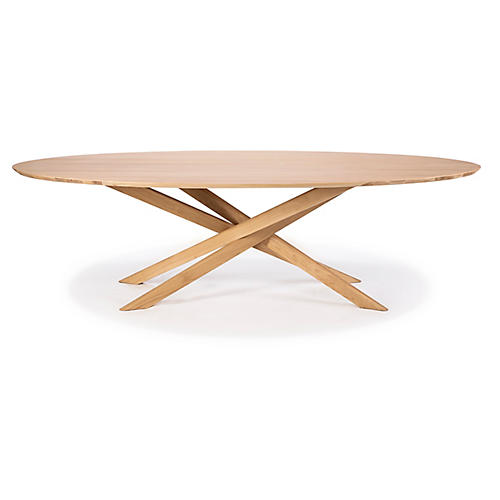 Mikado Oval Dining Table, Oak