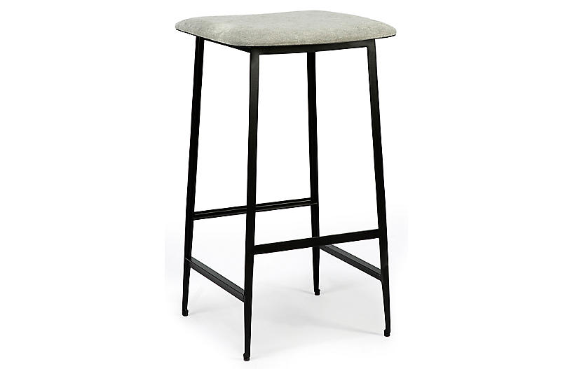 DC Backless Counter Stool, Light Gray