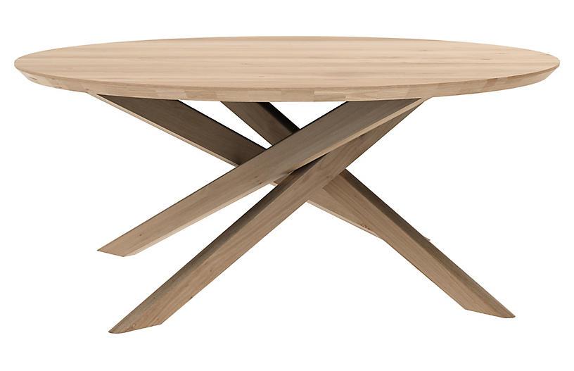 Mikado Round Coffee Table, Oak
