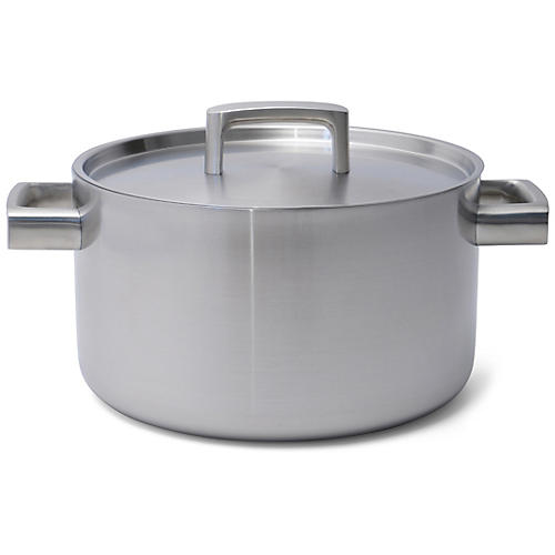 Ron Covered Stockpot, Silver